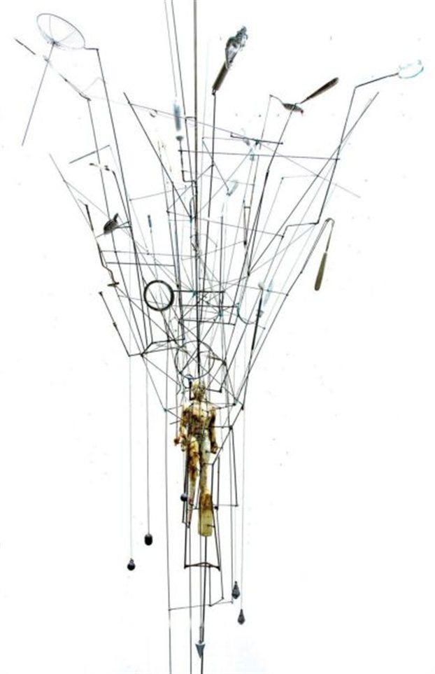 Έργο του Άγγελου Αντωνόπουλου που εκτίθεται στο νέο μουσείο.