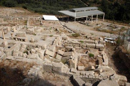 Τμήμα του αρχαιολογικού χώρου της Ελεύθερνας.