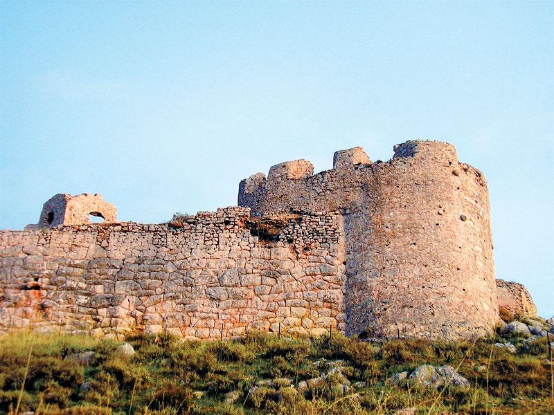 Τμήμα του κάστρου Λάρισα στο Άργος.