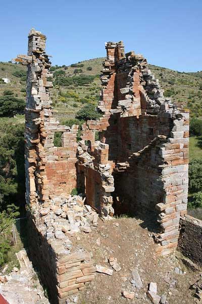 Ο πύργος του 4ου αιώνα π.Χ., τμήμα του οποίου στέκεται ακόμα στο αρχικό ύψος των 20 μέτρων.