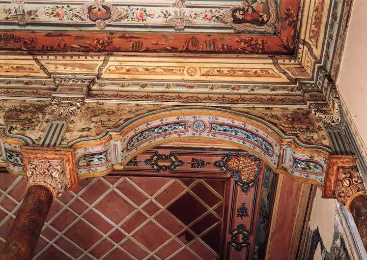 Λεπτομέρεια από οροφή της Οικίας Χρονάκη.