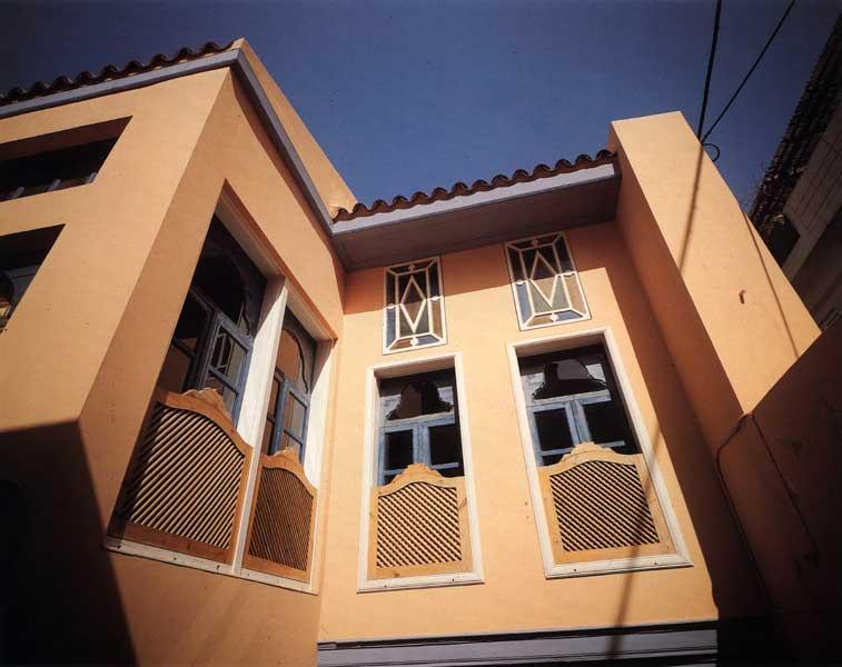 Εξωτερική άποψη της Οικίας Χρονάκη, στο Ηράκλειο.