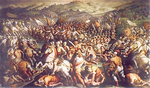 Η Μάχη του Μαρτσιάνο, έργο του Τζ.Βαζάρι.