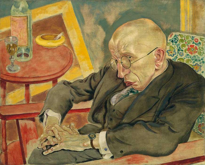 Tο πορτρέτο του ποιητή Μαξ Χέρμαν-Νάισε, έργο του Γκέοργκ Γκροζ.