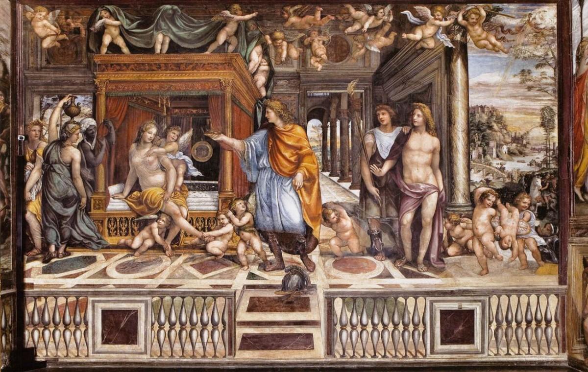 Ο γάμος του Αλέξανδρου και της Ρωξάνης, Sala di Alessandro, villa Farnesina, Ρώμη.