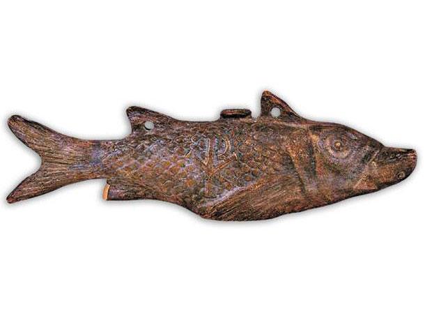 Λυχνάρι σε σχήμα ψαριού (Βυζαντινό και Χριστιανικό Μουσείο).
