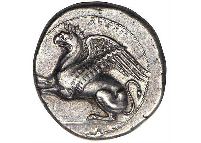 Νόμισμα από τα Άβδηρα της Θράκης,  περ. 360-350 π.Χ.