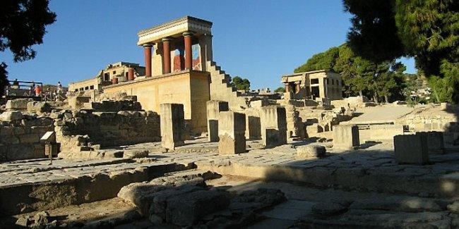 Τμήμα του αρχαιολογικού χώρου της Κνωσού.