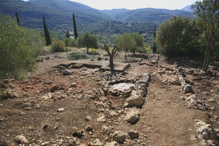 Η αρχαιολογική θέση στα Τζαννάτα Πόρου Κεφαλληνίας.