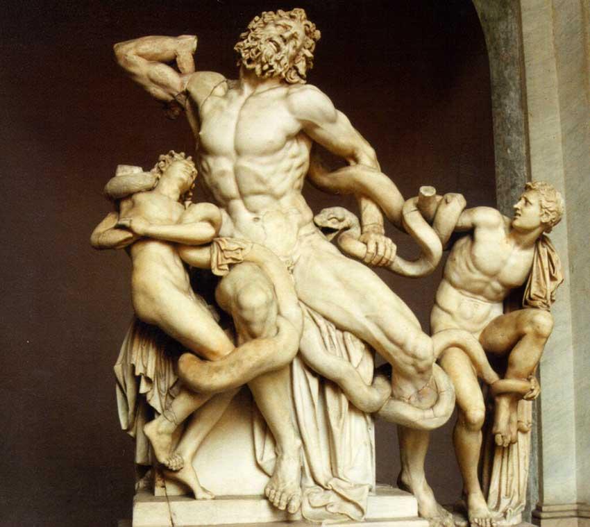 Εικ. 1. Το σύμπλεγμα του Λαοκόοντα στο Μουσείο του Βατικανού (π. 100 π.Χ.).