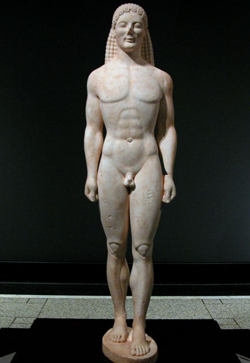 Εικ. 3. Ο Κούρος του Getty (αρχαϊκό έργο;).