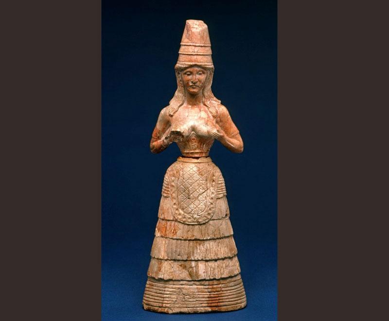 Εικ. 5. Κρητική θεά από την Κνωσό (1600 π.Χ., Μουσείο Fitzwilliam, αγορά 1926).
