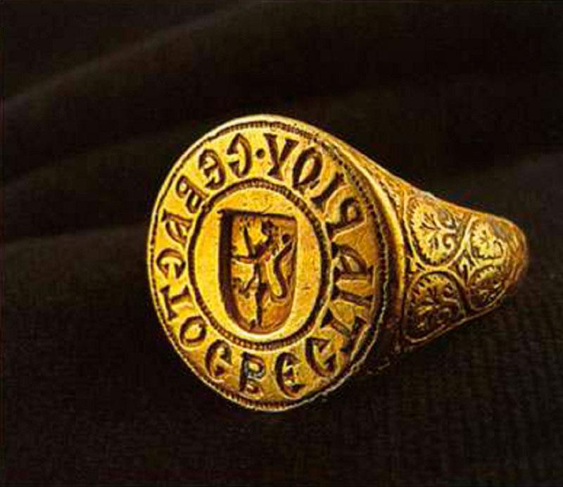 Χρυσό δαχτυλίδι του Σεβαστού Βεστιαρίου.