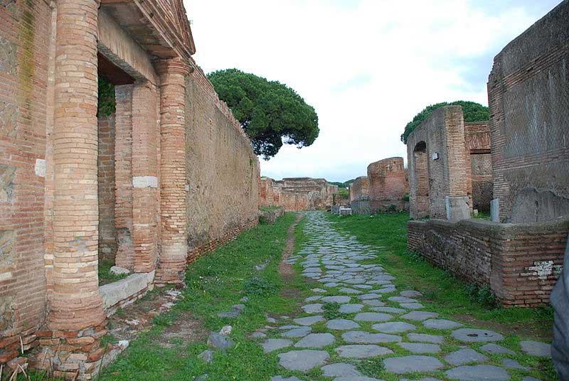 Άποψη του αρχαιολογικού χώρου της Όστια.