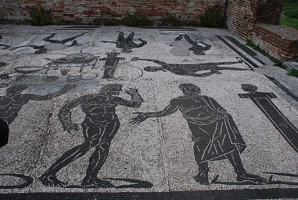 Ψηφιδωτό στην αρχαία Όστια.
