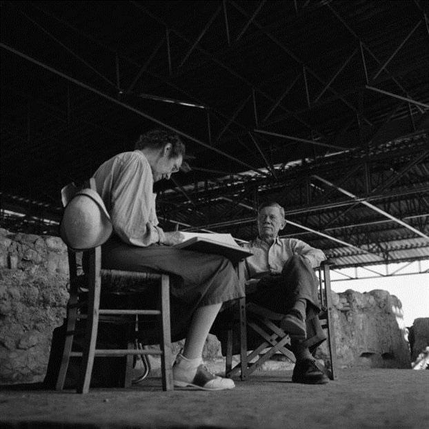 Ο αμερικανός αρχαιολόγος Καρλ Μπλέγκεν στην ανασκαφή της Πύλου στις 16 Ιουλίου 1961.