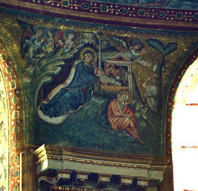 Εικ. 1. Ρώμη, Santa Maria Maggiore, Γέννηση (ψηφιδωτό),  πρώτο μισό του 5ου αιώνα.