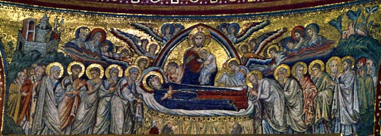 Εικ. 2. Ρώμη, Santa Maria Maggiore, Κοίμηση (ψηφιδωτό),  πρώτο μισό του 5ου αιώνα.