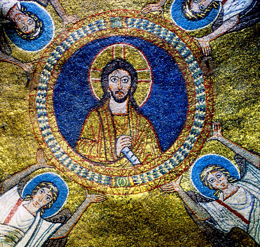 Εικ. 3. Ρώμη, Santa Prassede, Χριστός Παντοκράτορας, πρώτο μισό του 9ου αιώνα.