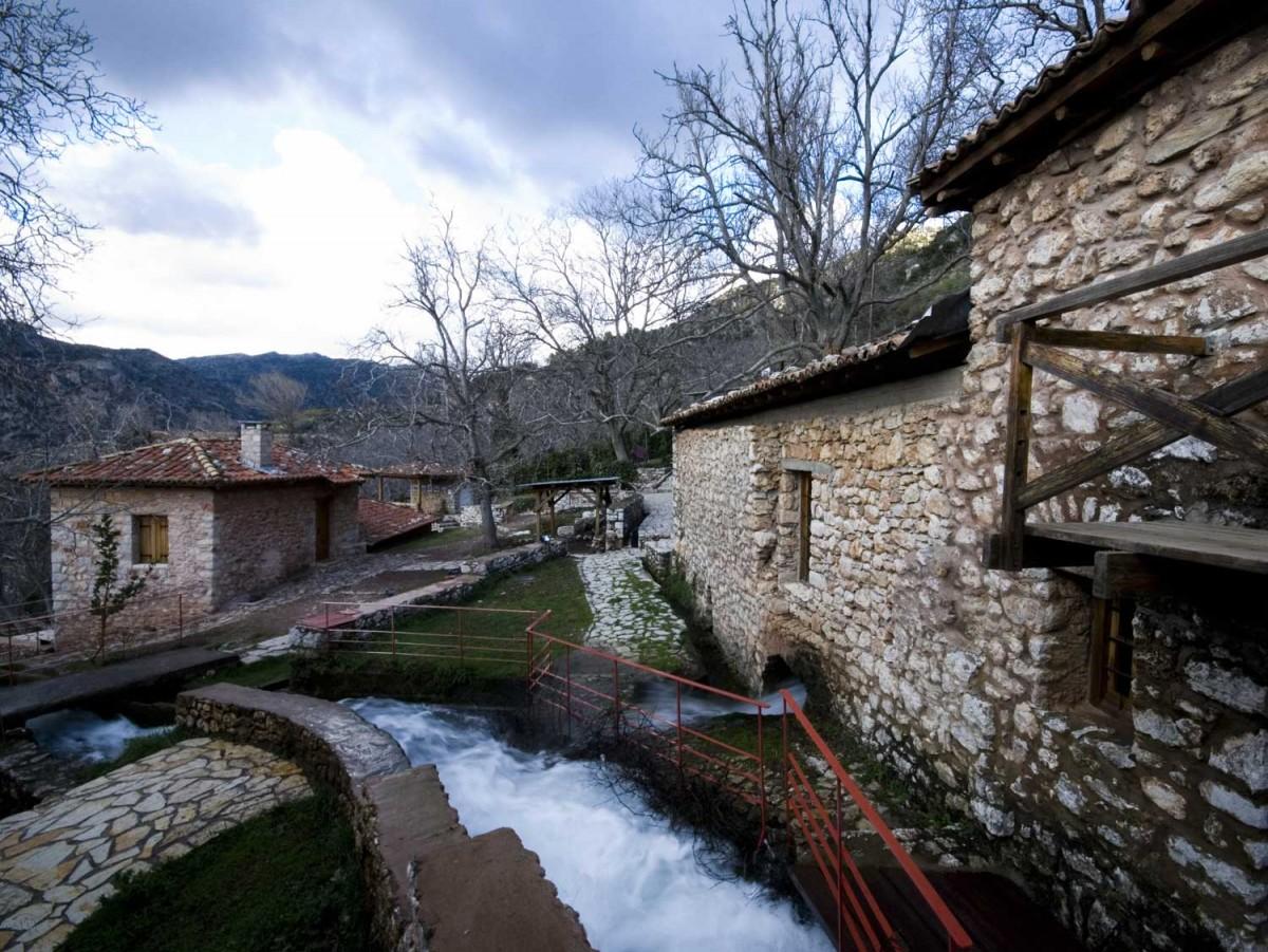 Άποψη του Υπαίθριου Μουσείου Υδροκίνησης-Δημητσάνα. (© Φωτ. Θ. Κοττάς- ΦΩΤΟΓΡΑΦΙΚΟ ΑΡΧΕΙΟ ΠΙΟΠ)