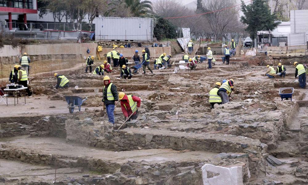 Μετ' εμποδίων το έργο των αρχαιολόγων.