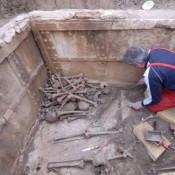Παλαιοχριστιανικός τάφος είχε κτισθεί με τμήματα του ανακτόρου των Αιγών