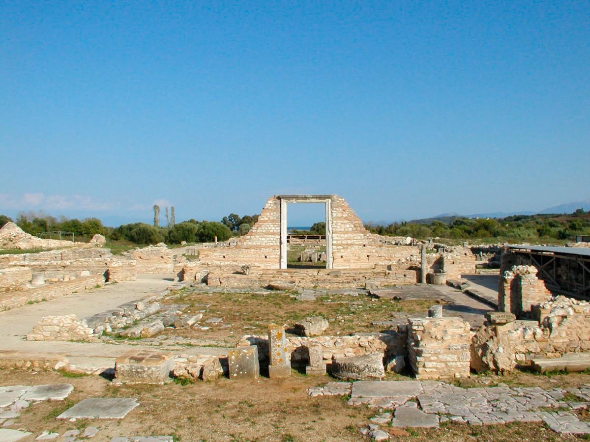 Άποψη του αρχαιολογικού χώρου της αρχαίας Νικόπολης.