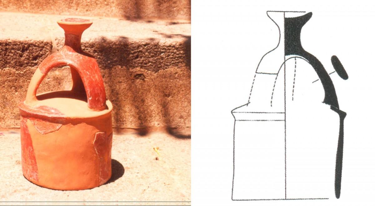 Εικ. 28. Κυλινδρικό πώμα με σταυροειδή λαβή της Πρώιμης Χαλκοκρατίας (Τομή 3).