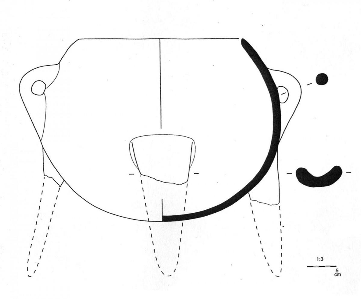 Εικ. 34. Χαρακτηριστικός τύπος τριποδικής χύτρας της Μέσης Χαλκοκρατίας (Τομή 5).