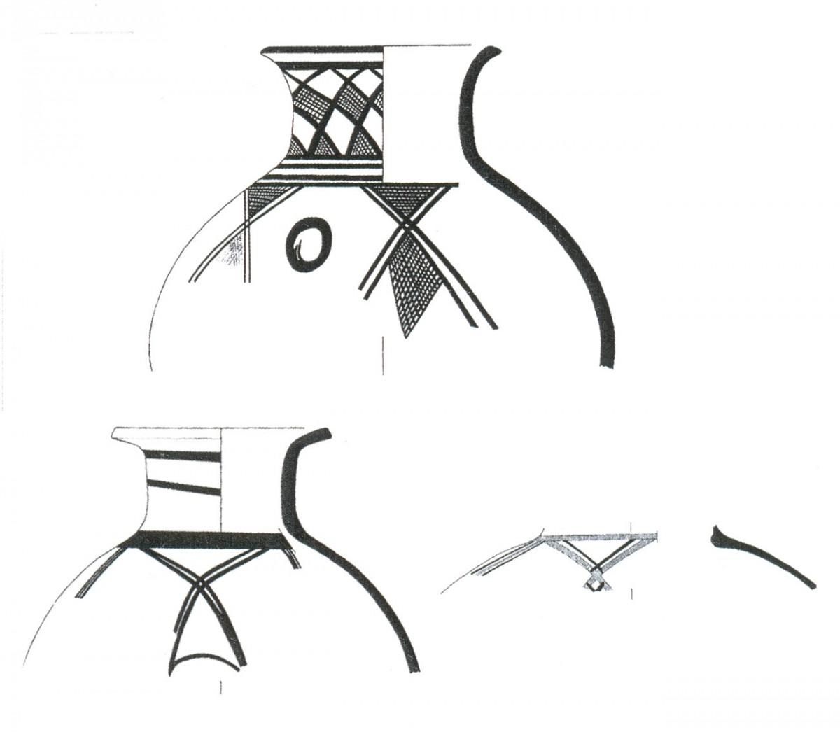 Εικ. 37. Εισαγμένα αγγεία του τέλους της Μέσης Χαλκοκρατίας (Τομή 3).