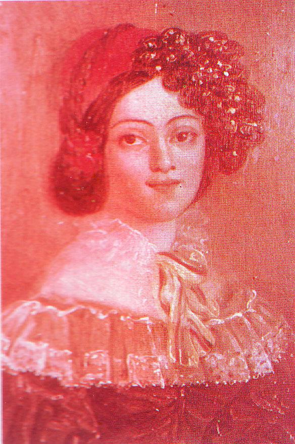 Πορτραίτο της Σοφίας Καλλέργη σε νεαρή ηλικία.