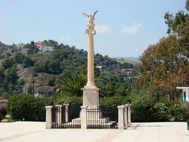 Το μνημείο της Α' Εθνοσυνέλευσης στη Νέα Επίδαυρο.