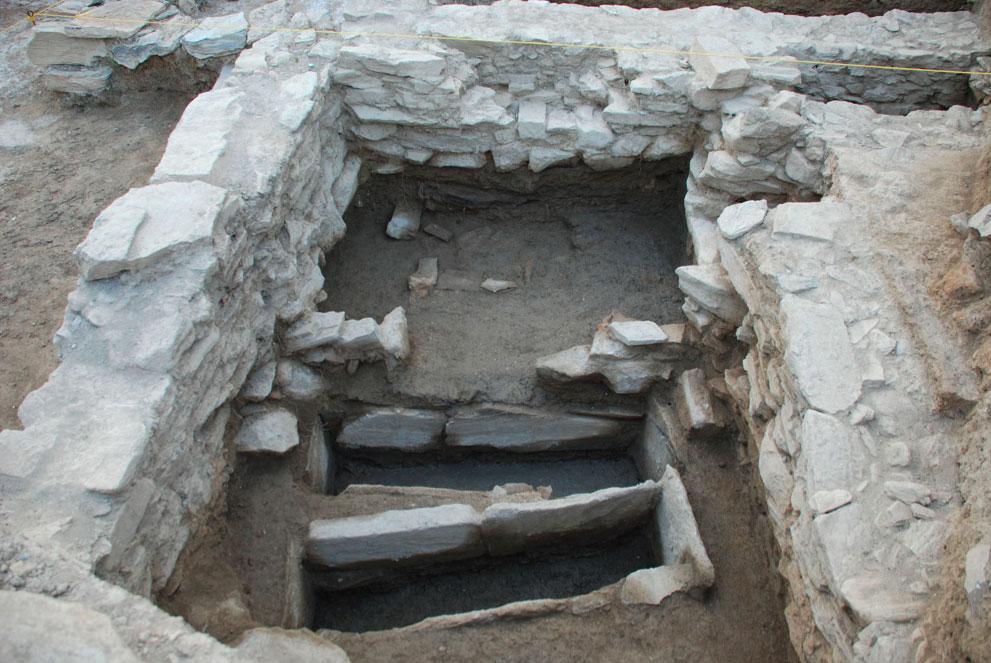 Άποψη της ανασκαφής στα Πευκάκια Μαγνησίας.