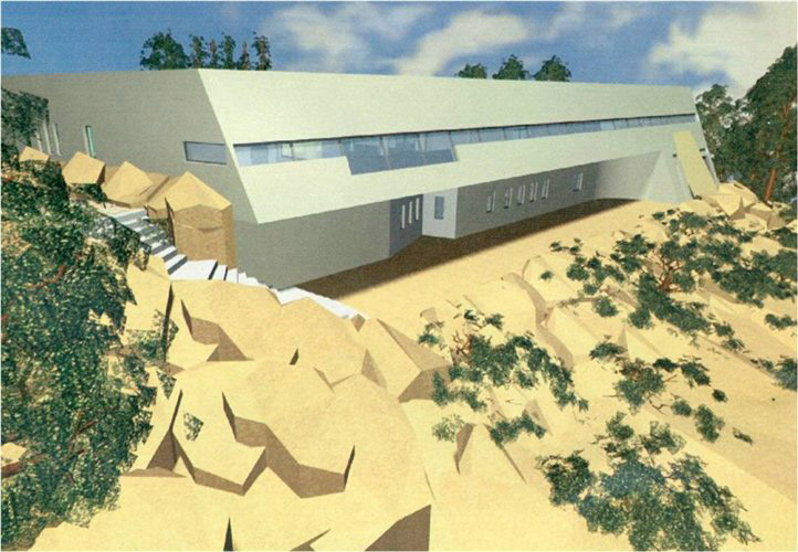 Σχεδιαστική απεικόνιση του μουσείου της Ελεύθερνας.