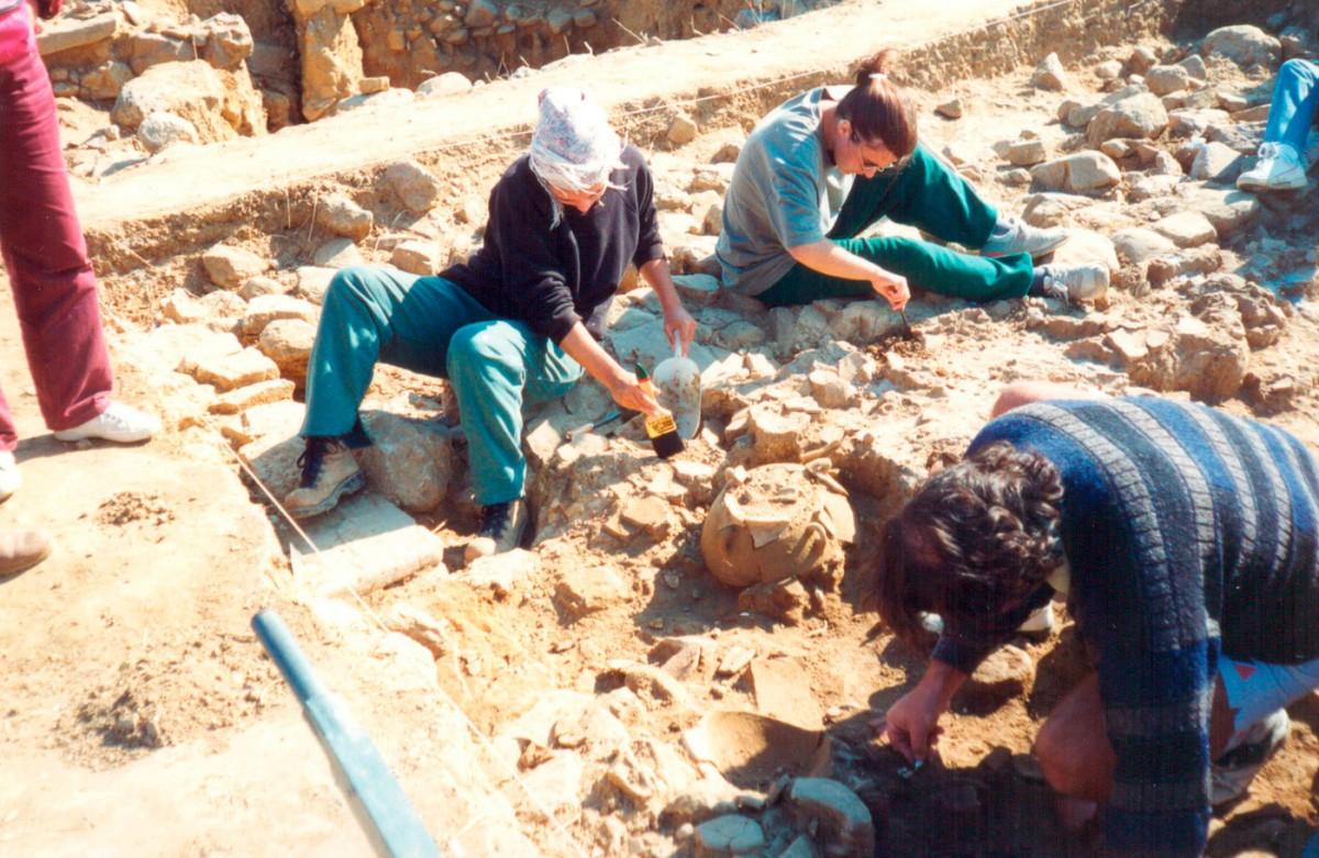 Εικ. 4. Ανασκαφικό στιγμιότυπο στην Τομή 3 (1995).