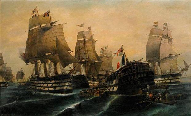 «Ναυμαχία του Τραφάλγκαρ», Κωνσταντίνος Βολανάκης.