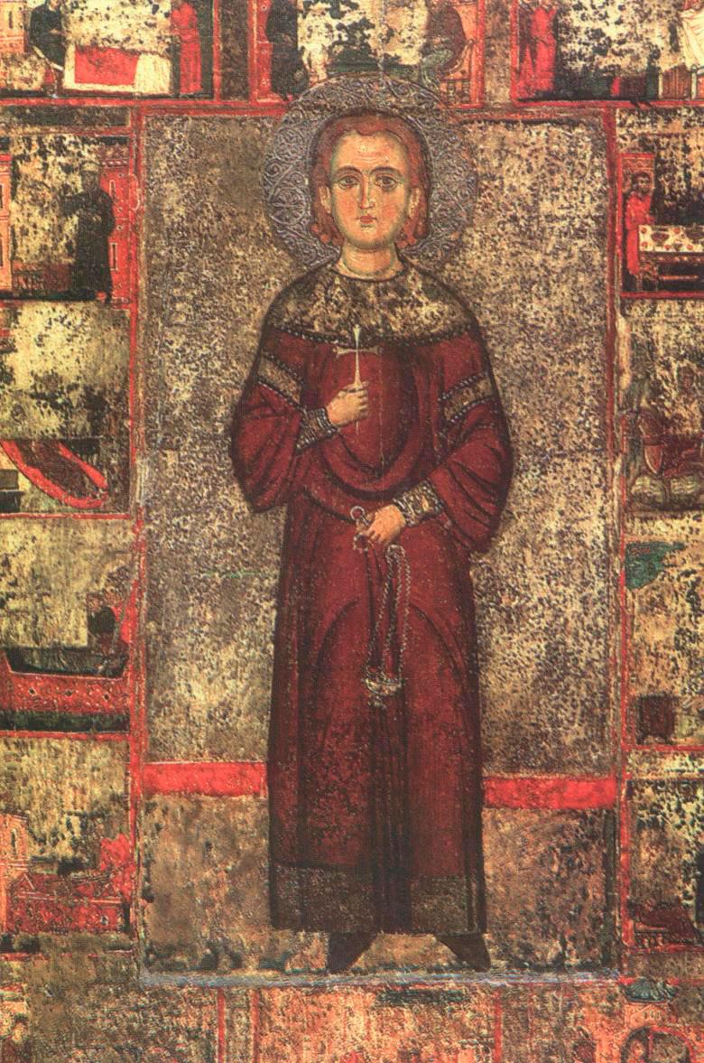 Ο Άγιος Ιωάννης ο Λαμπαδιστής. Φορητή Εικόνα 13ου αιώνα. Ιερά Μονή Αγίου Ιωάννη του Λαμπαδιστή, Κύπρος.