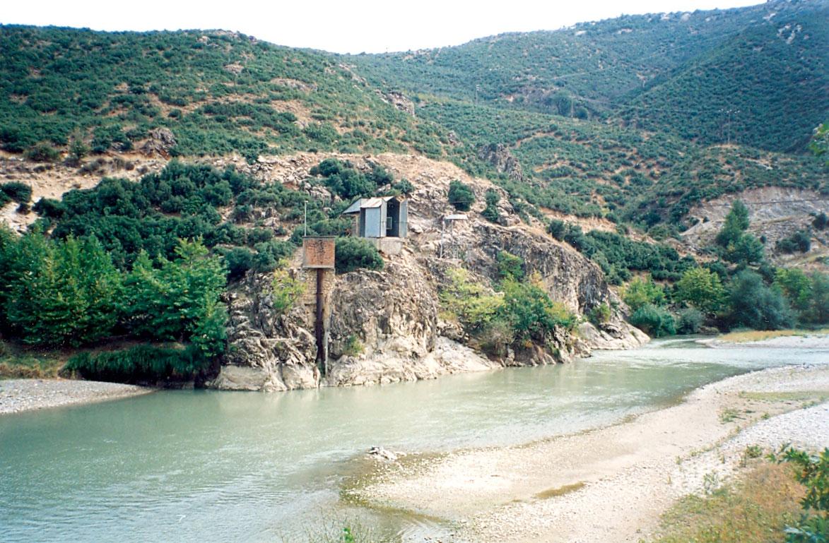 Εικ. 5. Το «καρούλι» της Μονής Ιλαρίωνα. Στην περιοχή σήμερα έχει κατασκευαστεί το Φράγμα Μέσου Αλιάκμονα.