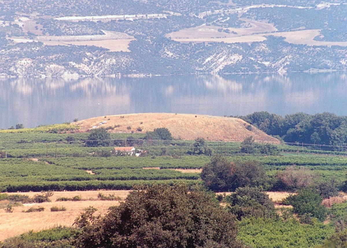 Εικ. 7. Ο προϊστορικός οικισμός της θέσης Βασιλάρα Ράχη Βελβεντού, από νότια.