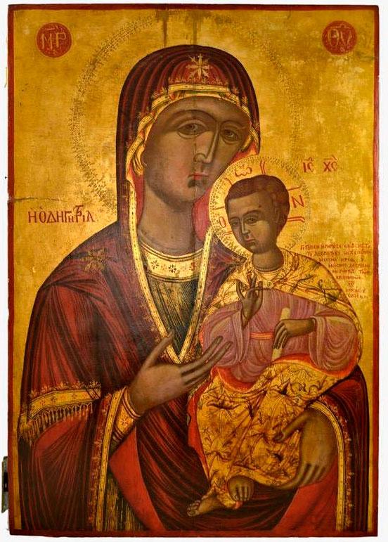 Δεσποτική εικόνα της Παναγίας της Οδηγήτριας, 18ος αι. Κύπρος.