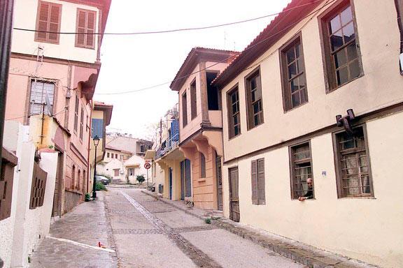 Άποψη του παραδοσιακού οικισμού της Άνω Πόλης στη Θεσσαλονίκη.