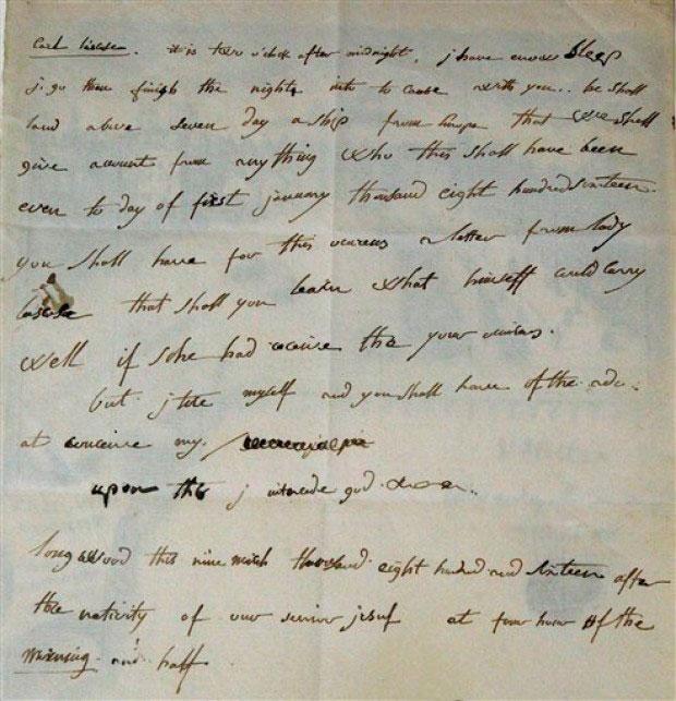 Η χειρόγραφη επιστολή του Ναπολέοντα που πωλήθηκε έναντι 325.000 ευρώ.