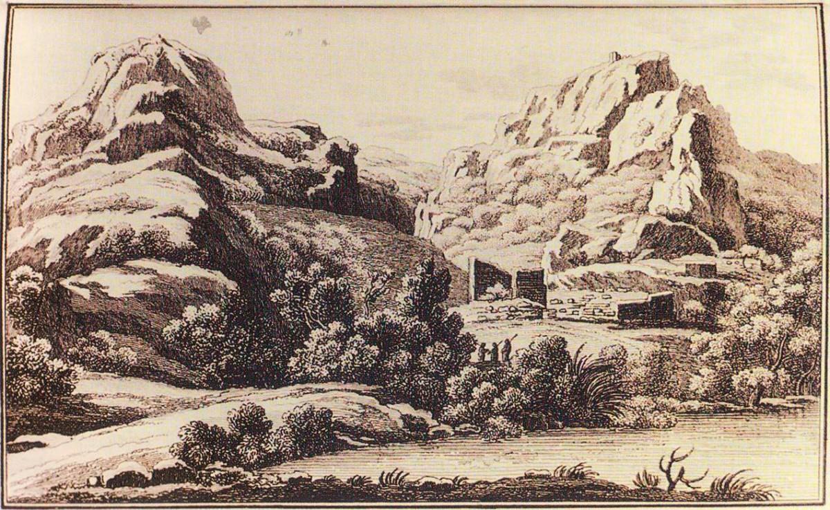Εικ. 5. Το κάστρο στα Τέμπη. Simone Pomardi, 1805.