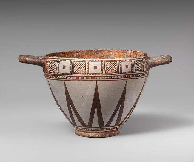 Σκύφος από τερακότα. Σάρδεις, 6ος αι. π.Χ. Μητροπολιτικό Μουσείο Τέχνης, Νέα Υόρκη.
