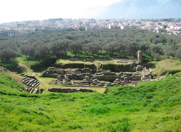 Το αρχαίο θέατρο της Σπάρτης.