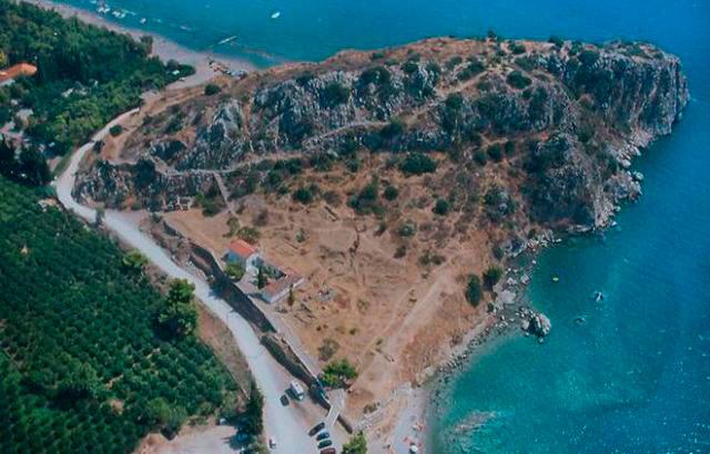 Άποψη του αρχαιολογικού χώρου της Ασίνης.