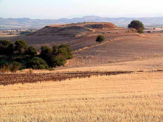 Γενική άποψη της θέσης Μαγούλα Ζερέλια στην περιοχή του Αλμυρού.