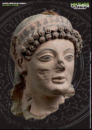 Αφίσα της έκθεσης «Ολυμπία - Μύθος, λατρεία, αγώνες» που θα φιλοξενηθεί στο Μουσείο Μάρτιν Γκρόπιους Μπάου, στο Βερολίνο.