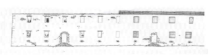 Εικ. 25α. Αποτύπωση της δυτικής όψης του κτηρίου.