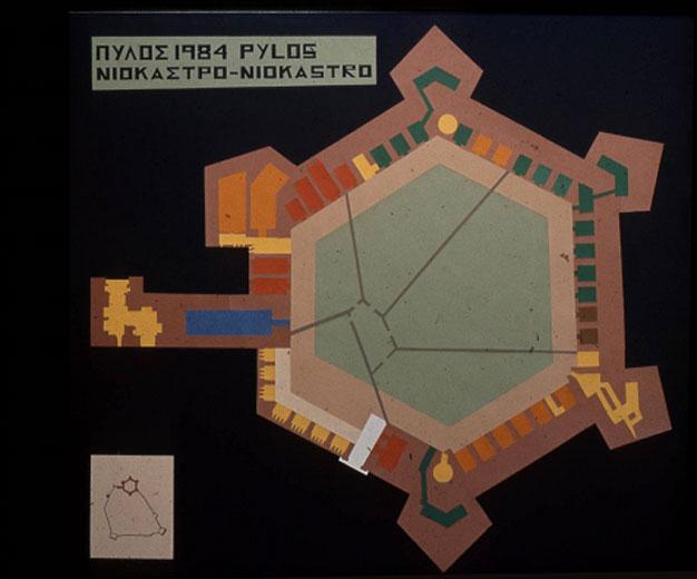 Εικ. 29. Η αφίσα του 3ου Συνεδρίου Υποβρύχιας Αρχαιολογίας στην Πύλο (Σχέδιο Ελίνας Ζενέτου).